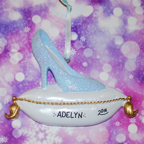 engraved glass slipper personalized glass slipper ornament