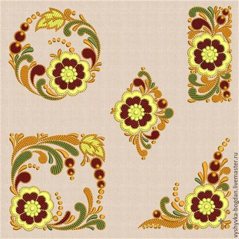 embroidery design motifs machine embroidery designs set of slavic motifs shop