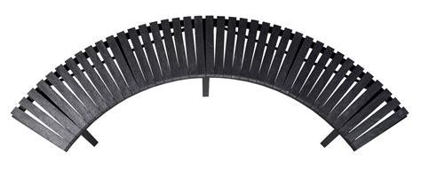 Skyline curved park bench wishbone site furnishings