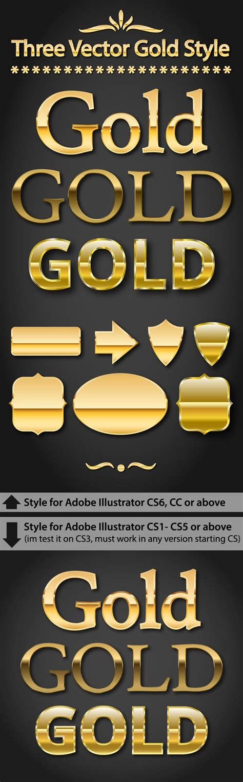 adobe pattern gold gold text styles for adobe illustrator texts design and