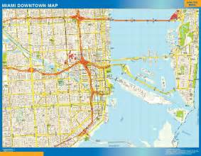 us map miami miami downtown map netmaps usa wall maps shop