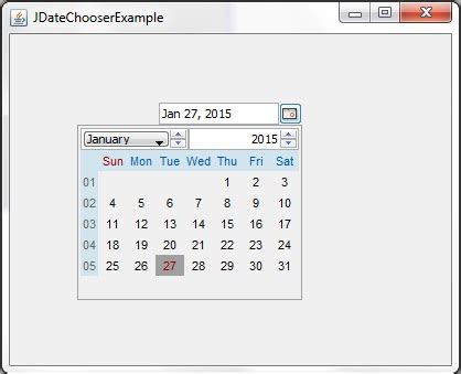 java swing date swing displaying date in jtextfield while user enters