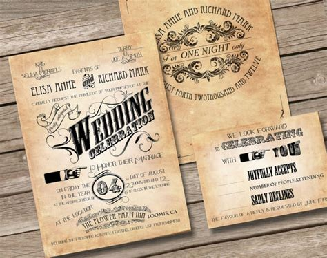 free vintage wedding invitation templates 6 best images of free printable vintage wedding