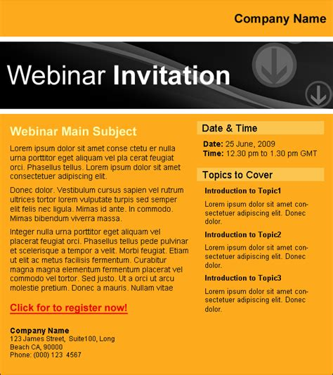 email templates education webinar 2