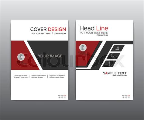 9 best images of magazine layout cover abstract colorful brochure red black elegant vector annual report leaflet