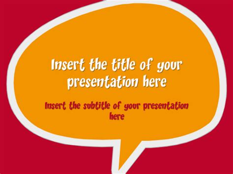 Speech Bubbles ? Free Template for PowerPoint and Impress