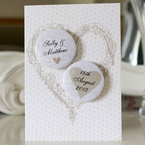 personalised wedding card personalised mini magnets wedding card by bedcrumb