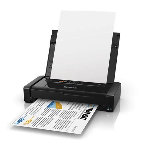 Printer Portable Epson epson workforce wf 100w wireless portable colour inkjet printer ebuyer