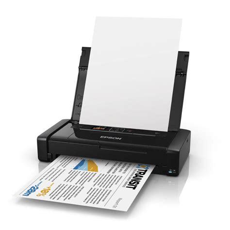 Printer Wifi Epson epson workforce wf 100w wireless portable colour inkjet printer ebuyer