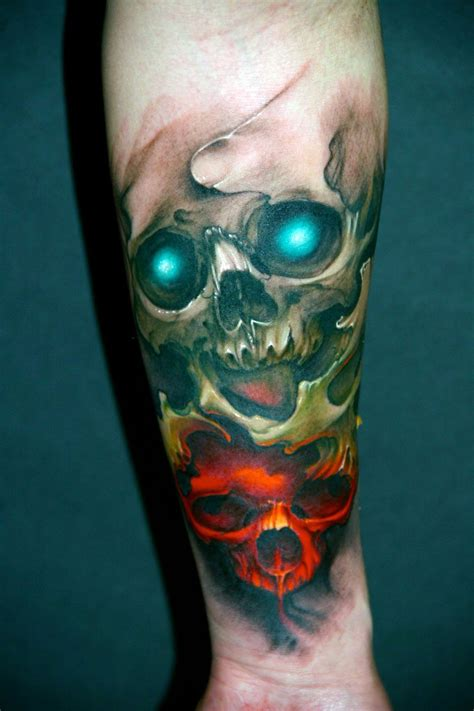 skull head tattoo designs gallery for gt awesome skull designs