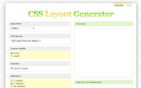 html and css layout generator how to build your website using economical css tools