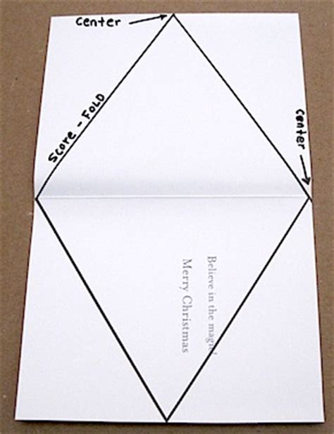 triangle card template gift box patterns