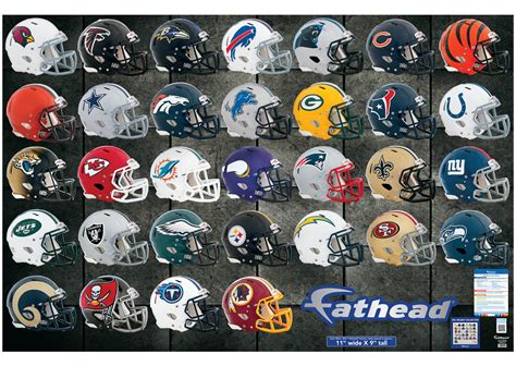 nfl fatheads wall stickers nfl helmet collection wall decal shop fathead 174 for nfl decor