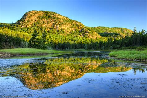 The Beehive Reflected in Water in Acadia National Park