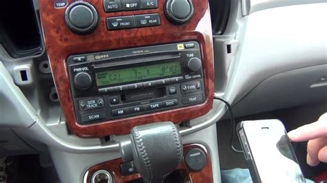 Putting An Aux Port In Your Car by Gta Car Kits Toyota Highlander 2001 2007 Install Of