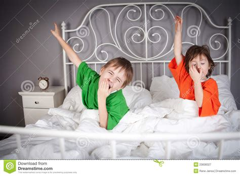 brother and sister in bed brother and sister in bed royalty free stock photography