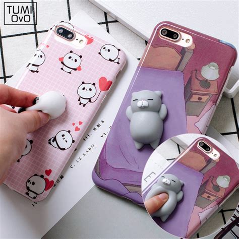 Silicon 3d Cover Soft Tpu Squishy Cat Seal Iphone 7g aliexpress buy 3d soft silicone squishy