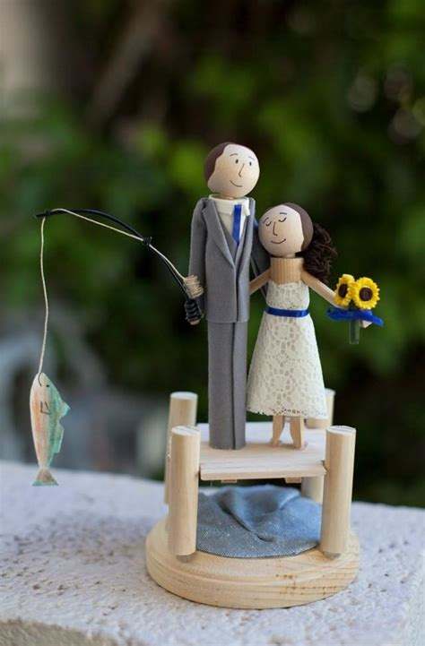Handmade And Groom Cake Toppers - cake topper handmade keepsake wedding topper custom made