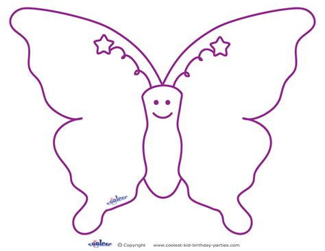 pin printable butterfly pattern free template or coloring