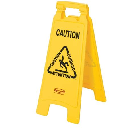 rubbermaid commercial products multi lingual caution 2