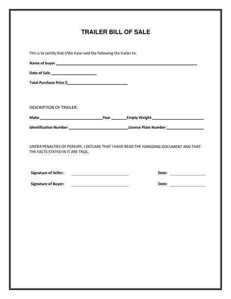 bill of sale form blank simple printable bill of sale form template pdf