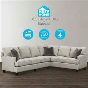 hgtv home design studio at bassett cu 2 sectional sofas memphis tn southaven ms sectional
