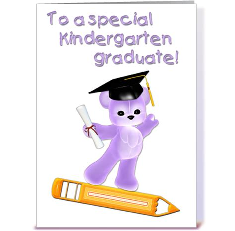 kindergarten graduate purple greeting card by starstock greetings card gnome