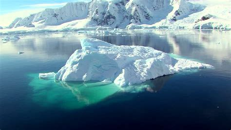 Arctic Shelf Melting by Iceberg Stock Footage