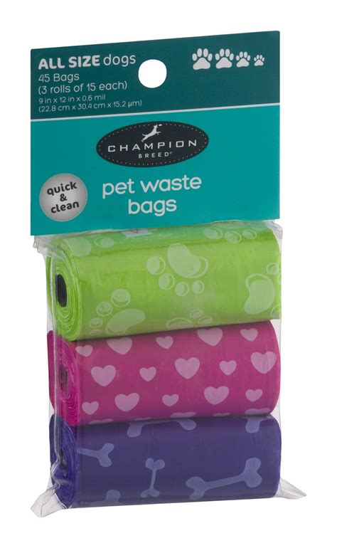 chion breed pet waste bags 45 ct