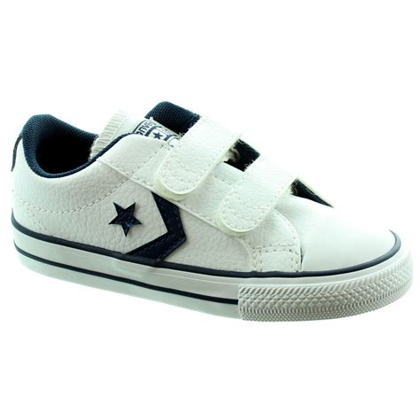 converse starplayer 2 velcro shoes in white leather in
