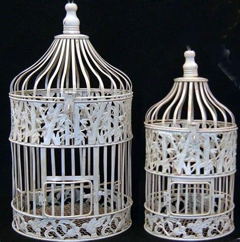 bird cages decorative antique cream white round wedding birdcages set of 2 cream white weddings