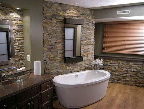 bathroom stone wall innovative modern bathroom designs with stone walls and