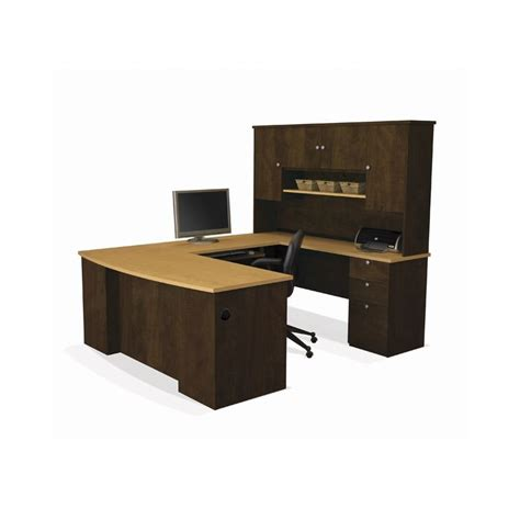 U Shaped Desks With Hutch Manhattan U Shape Desk With Hutch Desks Furniture
