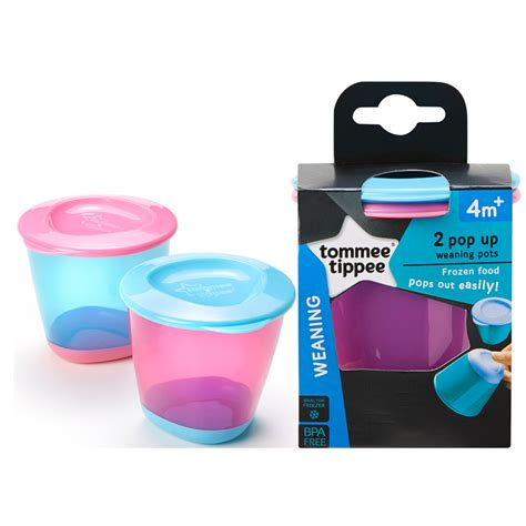 Tommee Tippee 2 Pack Pop Up Weaning Pot Orange T2909 alami baby weaning tommee tippee explora pop up weaning pots