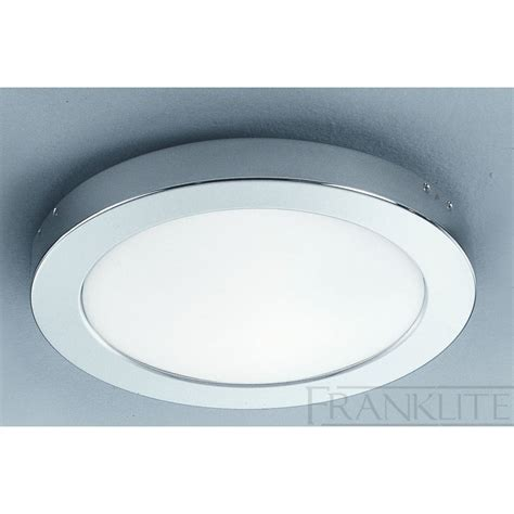 franklite cf1291 chrome flush bathroom ceiling light at