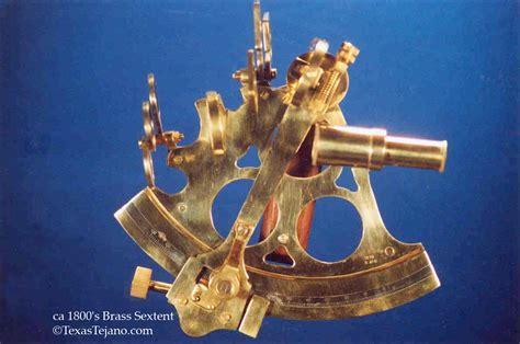 sextant use on land 1800 s brass sextant texas tejano chioning tejano