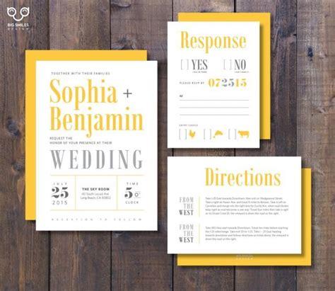 wedding invitation directions wording exles printed wedding invitation rsvp direction card with envelope modern yellow and grey