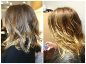 sholder length ombre hair long bob wavy shoulder length ombre