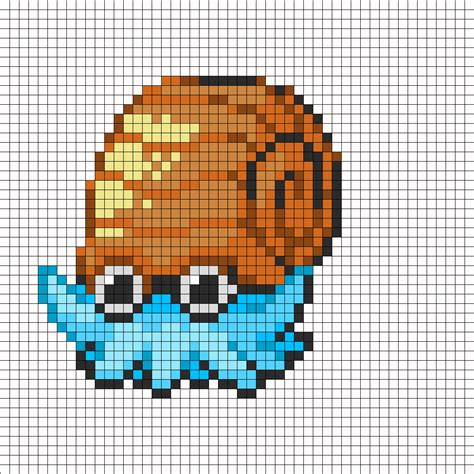 big perler bead patterns big omanyte perler bead pattern bead sprites