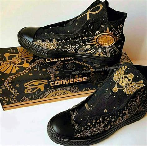 how to design converse shoes at home shoes black converse with gold designs wheretoget