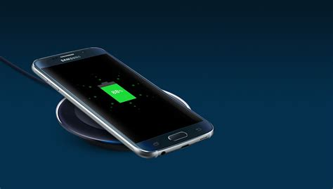 Samsung S6 Wireless Charger galaxy s6 is charging wirelessly on a samsung wireless charger