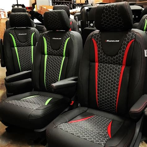 quilted leather seats volkswagen transporter t5 and t6 hex quilted lraceline gp