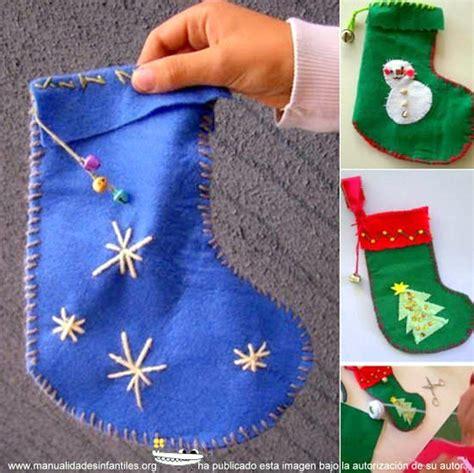 botas navideas de fieltro 2016 como se hacen las botas navide 241 as de fieltro imagui