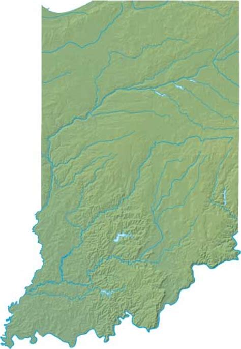 physical map of indiana indiana relief map