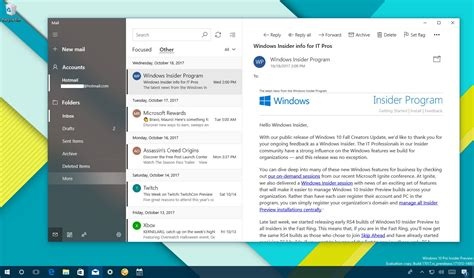 windows 10 office mobile apps updated with fluent design microsoft s mail and calendar apps get new design changes