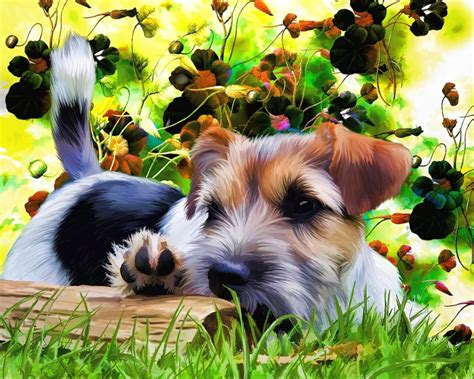 puppy flower free illustration terrier puppy flowers free image on pixabay 815154