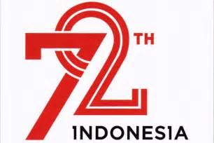 usung indonesia kerja bersama ini logo hut ke 72 ri kompas