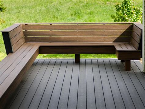 deck bench seats create a functional and exciting deck or patio