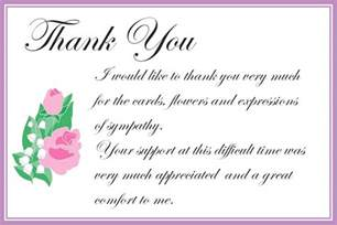 what to write in a sympathy thank you card for money sympathy cards ideas and card on