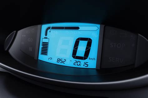 Interior Home Magazine renault twizy electric car digital speedometer and
